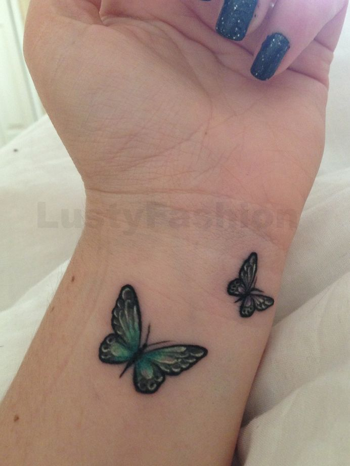 butterfly tattoos on wrist 2014
