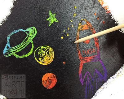 Kids of all ages just love this scratch art project. It's oh so easy, requires only inexpensive materials and is incredibly effective. Best of all, what you create is  limited only by your imagination!