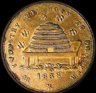 Coin Hope To Prosper....1838 | http://beeskepcottage.blogspot.com/2011/11/by-industry-we-hope-to-prosper1838.html