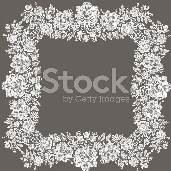 Lace frame. royalty-free stock vector art