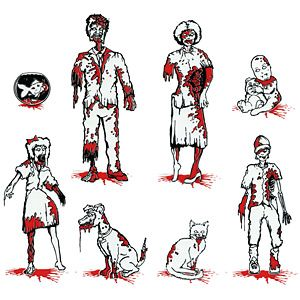 Zombie Family Car Decals.......I need a drooling face here i want it so bad