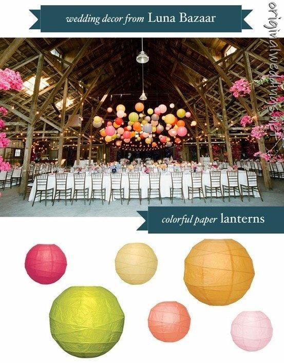 wedding decor wedding (courtesy of @Eloismas )Decor Wedding, Colors Wedding, Paper Lanterns, Wedding Decor, Chinese Lanterns, Barns Parts, Wedding Lanterns, Chine Lanterns, Green Wedding