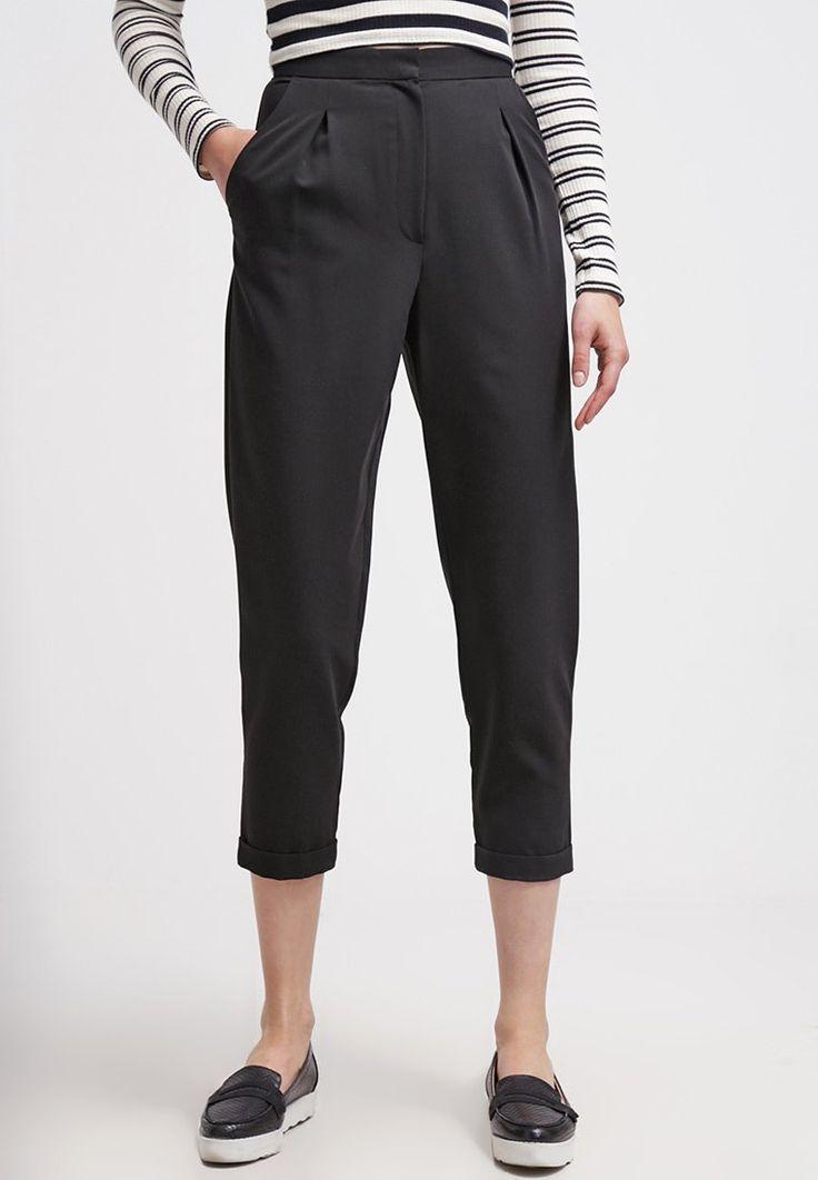 Topshop Spodnie materiałowe - black - Zalando.pl