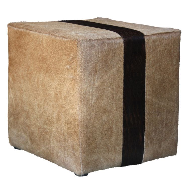 Christmas in #htfstyle Stripe cowhide ottoman