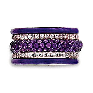 Hidalgo: Designer Fashion, Hidalgo Purple, Purple Passion, Fashion Rings, Things Purple, Color Purple, Purple Rings