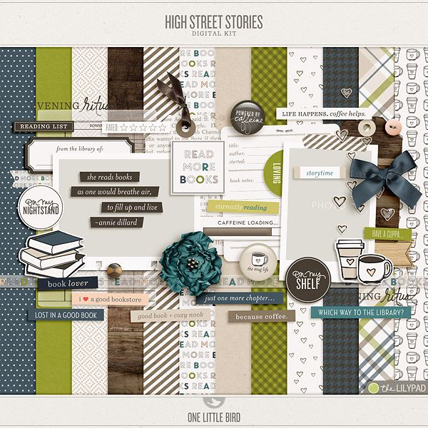 High Street Stories (Love the little coffee cup print)