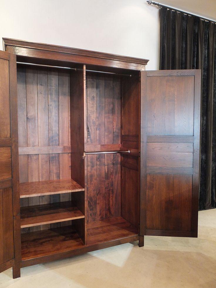 """French Armoire -French Oak- Customised Internal Layout - """"medium oak"""" French polish finish"""