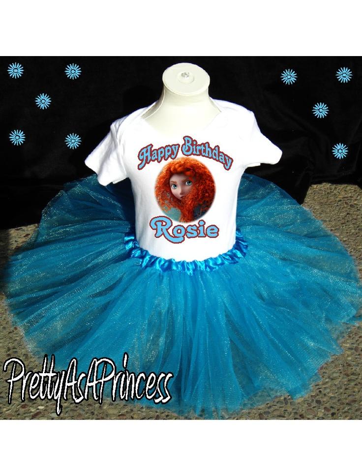 For Anna's bdAY   BRAVE Princess Merida TUTU OUTFIT blue Dress by PrettyAsAPrincess2, $19.99
