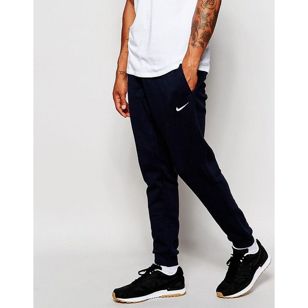 Nike Skinny Joggers 716830-475 ($55) ❤ liked on Polyvore featuring men's fashion, men's clothing, men's activewear, men's activewear pants, blue and nike