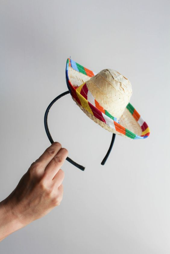 Sombrero Head Band... Add a veil for the bride?!