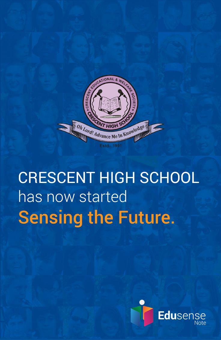 Crescent High School is experiencing the future with Edusense Note #EdusenseNote