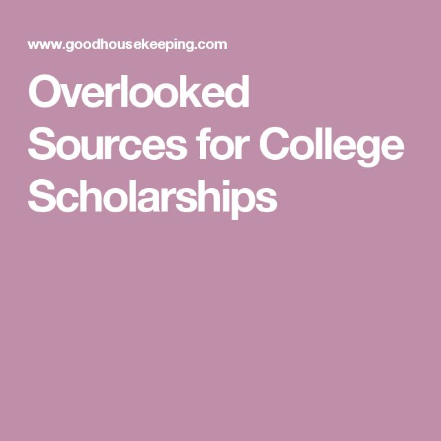 Overlooked Sources for College Scholarships