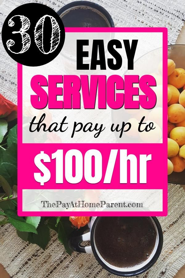 Make Money with These 30 Easy Services that Pay up to $100 per Hour – Wirtschatz