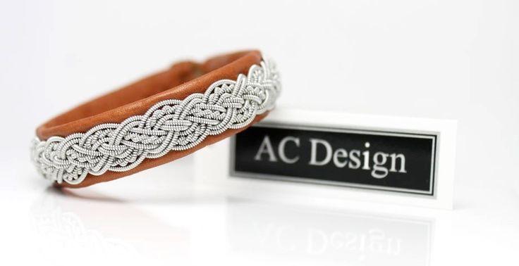 Sami bracelet   Saami armband   lapland bracelet   nordic bracelet handmade in Sweden by AC Design www.acdesign.se #acdesign #leather #bracelet #shoponline #jewellery #jewelry #gift #saami