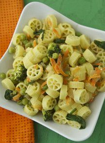 Toddler lunch idea - Bright Vegetable Pasta on Weelicious