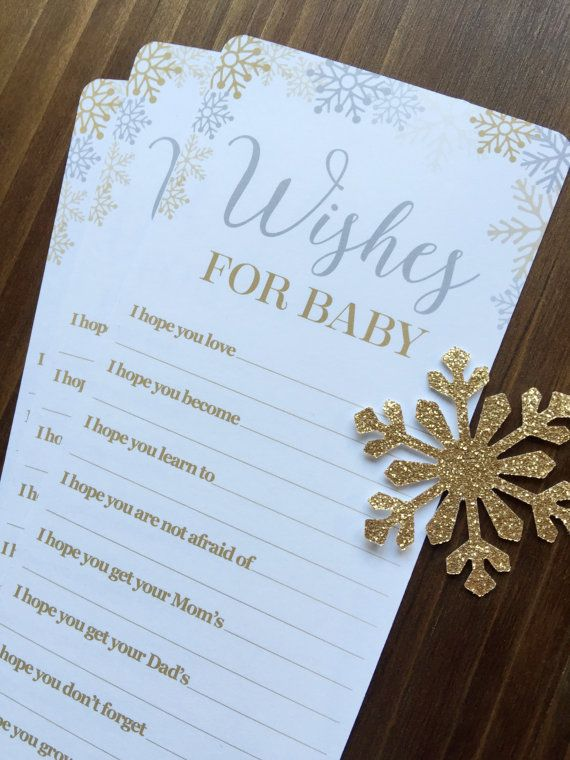 12 Baby It's Cold Outside Baby Shower Wish Cards - Snowflake Baby Shower - Winter Wonderland Baby Shower Wish Cards