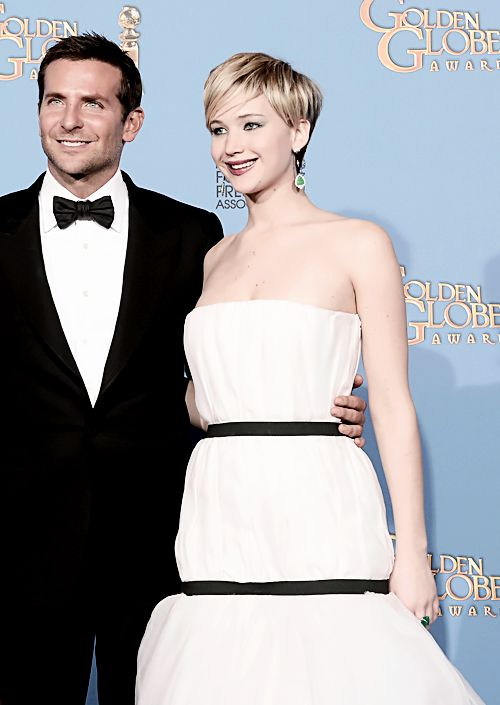 They kill it. Brad and Jen at Golden Globes 2014