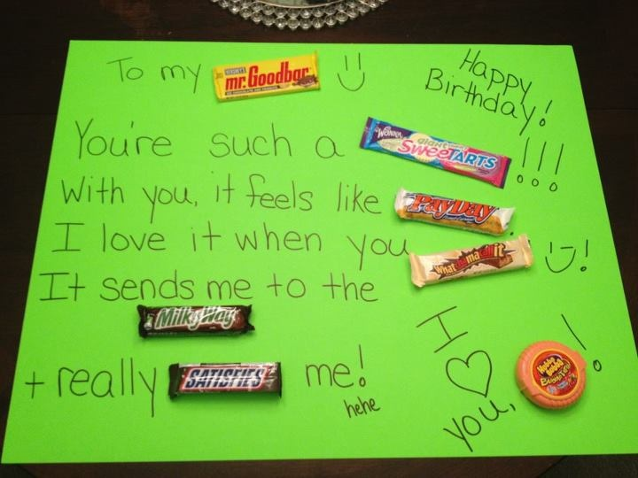 Candy Bar Poster For My Hubbyus Bday A Friend Of Mine Made This