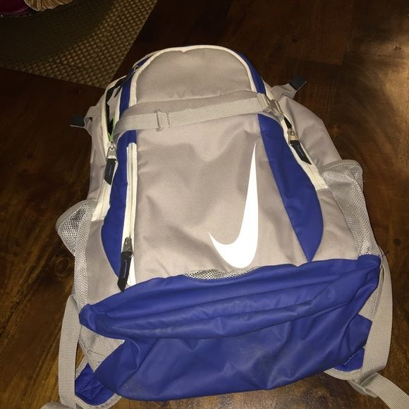 Nike sport backpack Like new. Some wear on bottom. Can probably be cleaned off. No marks in front or back. All zippers in perfect condition. Nike Bags Backpacks