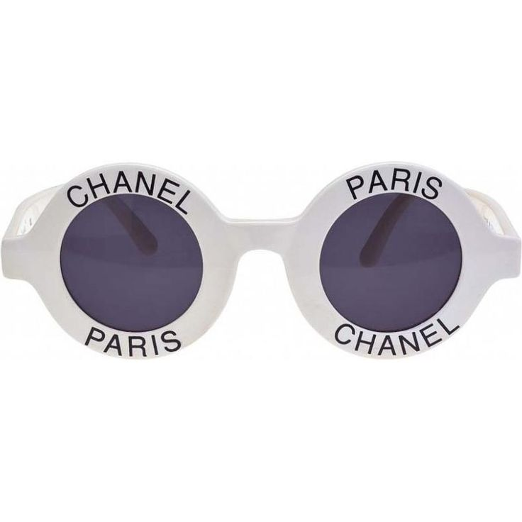 Chanel Vintage Round Sunglasses as seen on Ariana Grande
