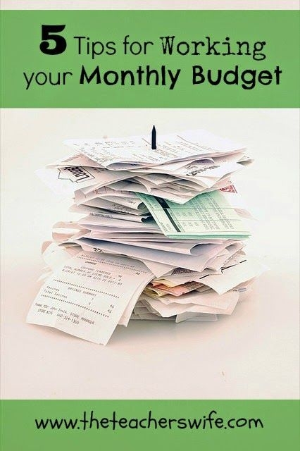 5 Tips for Working Your Monthly Budget.  Are you new to the budgeting process?  There's no reason to create a budget if you have no plan to implement it.  Here are 5 tips for working your monthly budget, so that it is helpful to your family.  Give it a try and see how it impacts your finances!