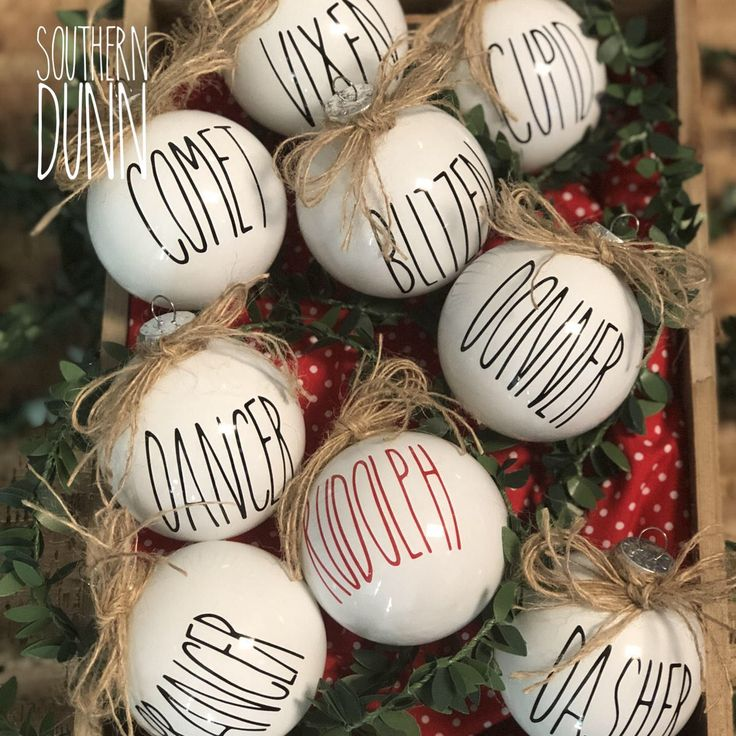 Rae Dunn Inspired Decals for Ornaments DECALS