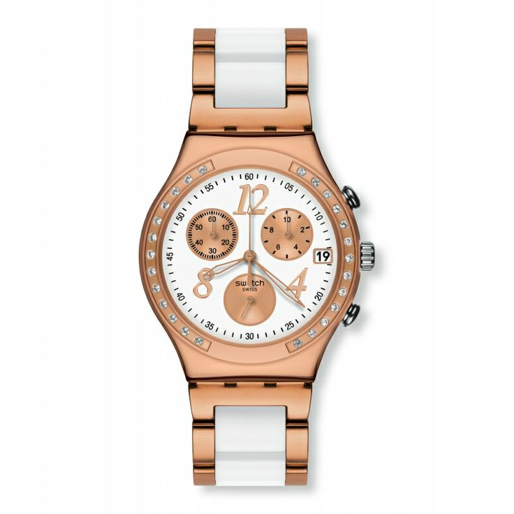 Reloj Swatch DREAMWHITE ROSE YCG406G #reloj #swatch #watch