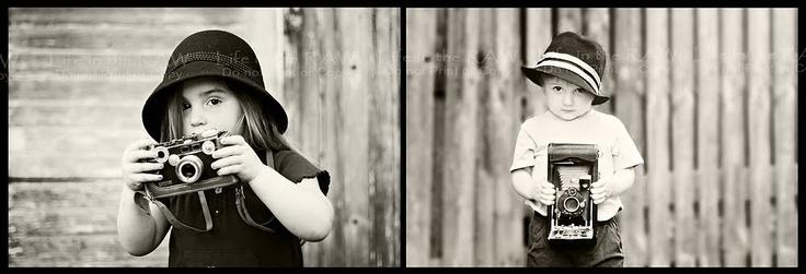 Love children with vintage cameras...cute.: Vintage Camera