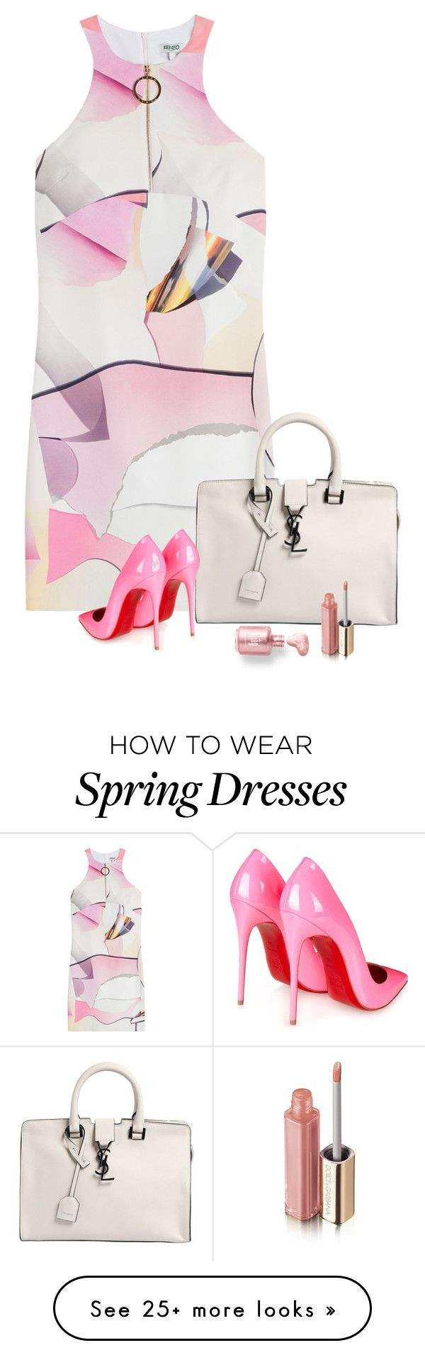 """Spring"" by lisa-holt on Polyvore featuring Mode, Kenzo, Yves Saint Laurent, Christian Louboutin und Dolce&Gabbana"