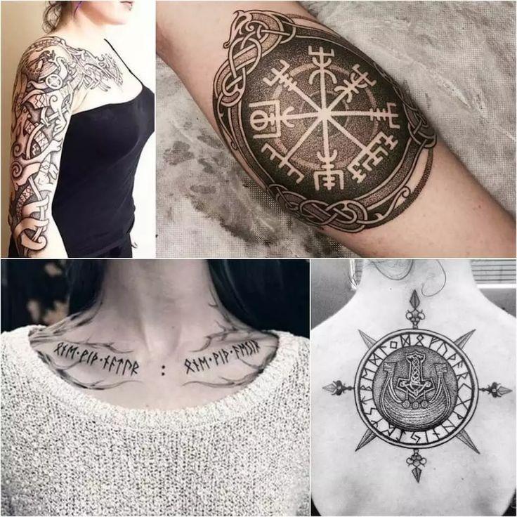 Ideas de tatuajes vikingos – Ideas de tatuajes escandinavos para hombres y mujeres  – Tattoo Frauen