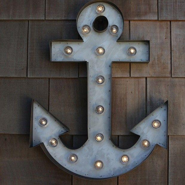Anchor Wall Art | Anchor Marquee | Nautical Wall Art | Anchor Lighting