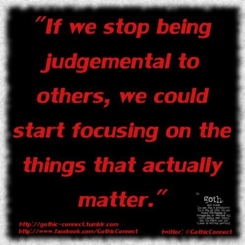 #QuoD - Stop being judgemental