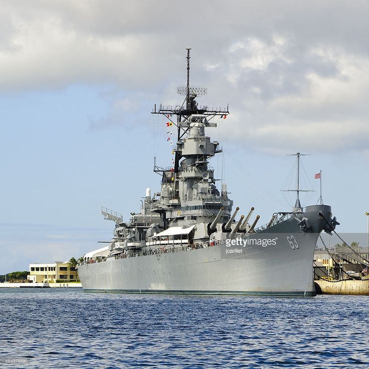 'Battleship Missouri located in Pearl Harbor, Hawaii. An Iowa class battleship which is perhaps most famous for hosting the signing ceremony for the Japanese surrender in September 1945, today it is a museum ship in Pearl Harbor.'