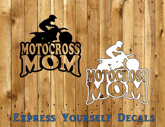 Motocross mom dirt bike car decal dirtbike by expresyourselfdecal