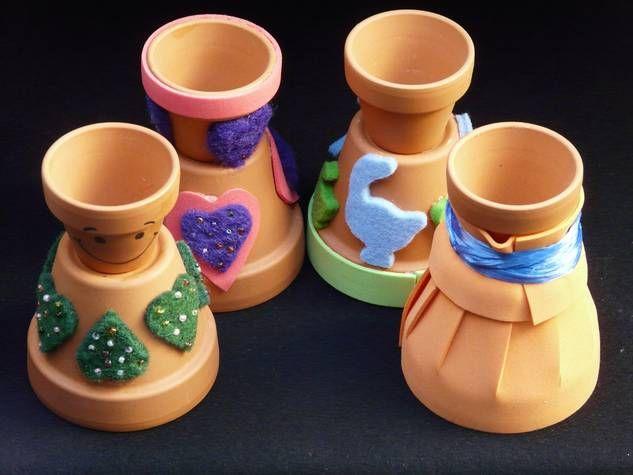 Eierbecher aus Terrakotta-Töpfen basteln - Bastelanleitung für Ostereierbecher
