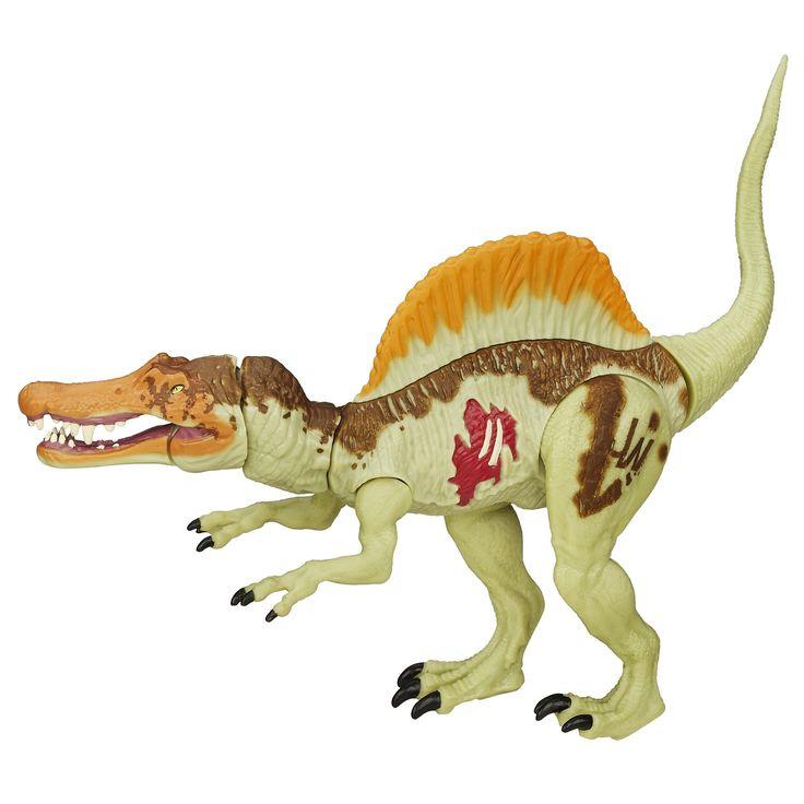 Jurassic World Bashers & Biters Spinosaurus Figure. Bashers & Biters figure looks like Spinosaurus. Chomping jaw. Biting attack. Includes figure.