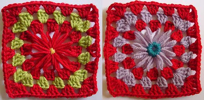 Free Crochet Pattern: Flower Loom Motif