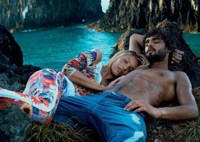 CAMPAIGN Marlon Teixeira & Candice Swanepoel for Osmoze Jeans Summer 2015 by Gui Paganini. www.imageamplified.com, Image amplified