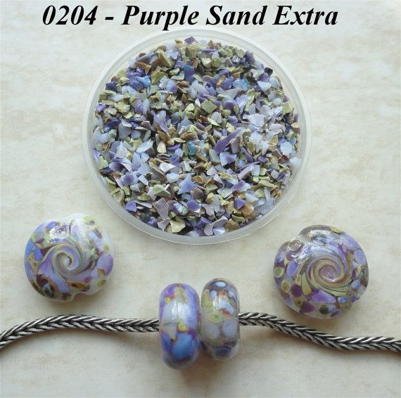 0204 Purple Sand Extra  Glass Frit Blend  K1  by BeadTreasures4You