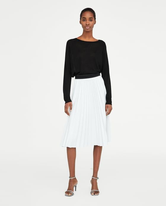 ZARA - WOMAN - FAUX LEATHER PLEATED SKIRT