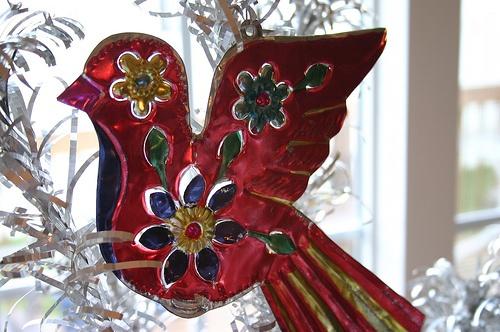 Mexican tin ornament