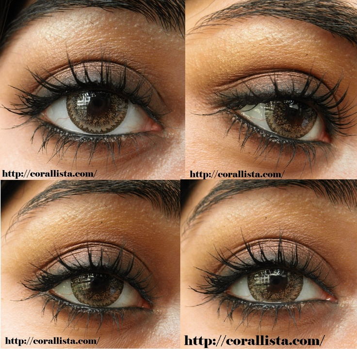 Smokey brown eye makeup