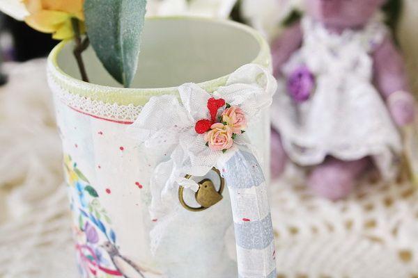 """Преображаем пивную кружку в чудесную вазочку """"Весна"""" - Ярмарка Мастеров - ручная работа, handmade"""