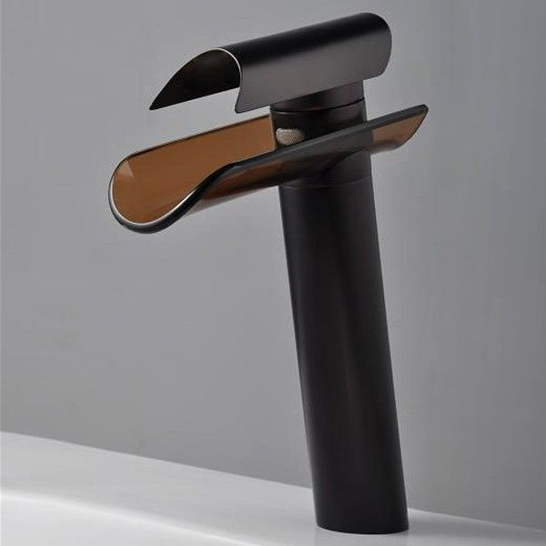 Waterfall Bathroom Sink Faucet Oil Rubbed Bronze With Gl Spout And Bathrooms Pinterest Faucets