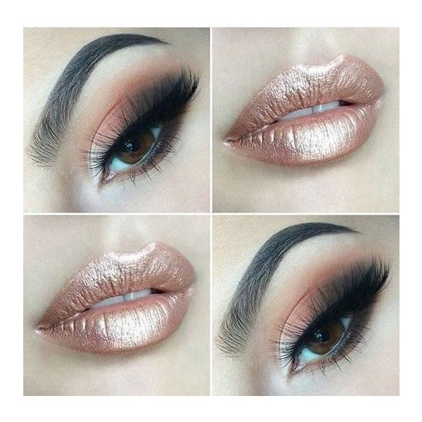 Rose Gold Lipstick ❤ liked on Polyvore featuring beauty products, makeup, lip makeup and lipstick