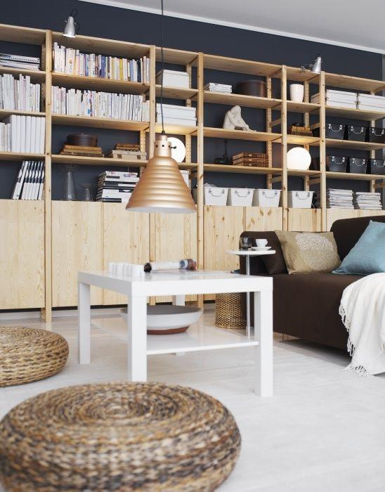 IVAR systemen | IKEA IKEAnederland inspiratie wooninspiratie woonkamer kast opberger boeken boekenkast