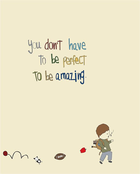 Inspirational Art Print, nursery, childrens room, boy art, baby, illustration, cute, kids art, playroom art, Amazing Is You