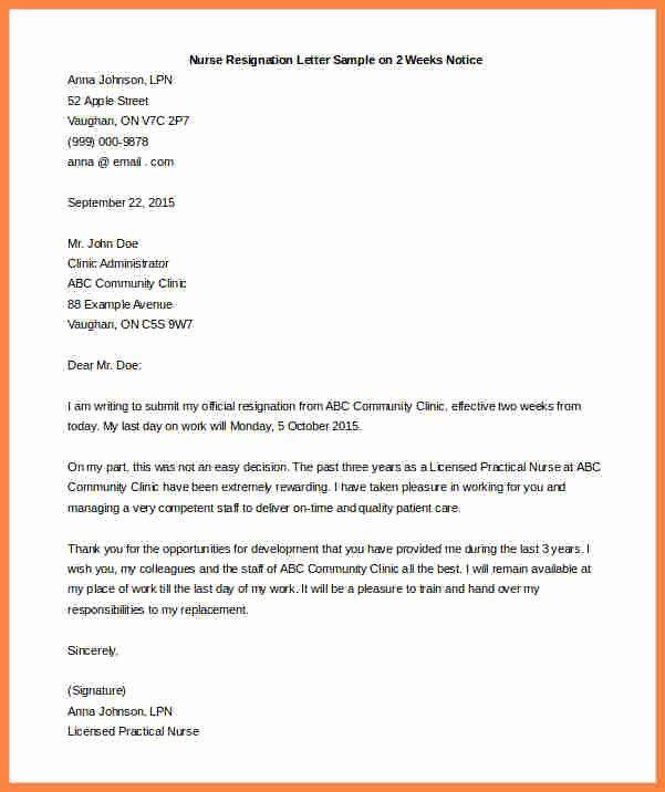 2 Week Resignation Letter Template Fresh 5 Resignation Letter 2 Week Notice Samples Resignation Letter Lettering Letter Template Word