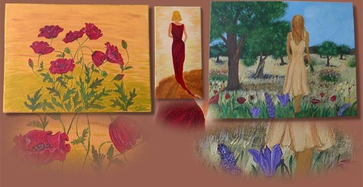 alcune delle mie pitture  /  merika erga mou
