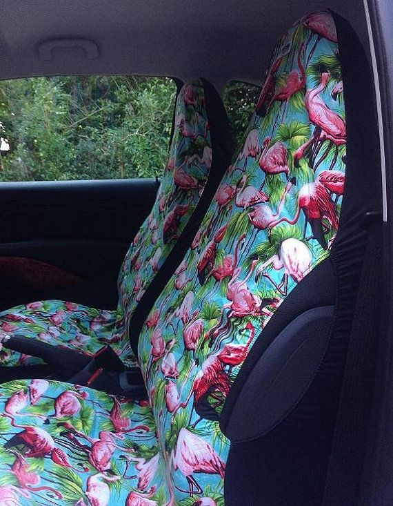 Fun Fabulous And Funky Car Seat Covers Pink Flamingo